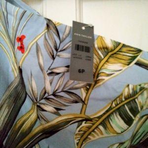 Ann Taylor Dresses - Tropical print asymmetric dress